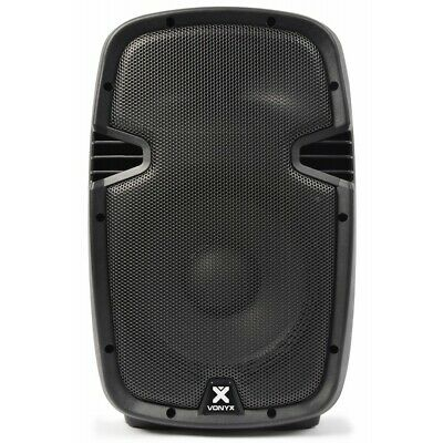 Vonyx SPJ-1000A Powered 10 Inch PA DJ Party Speaker 400W Amplifier w/ Mixer