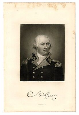 NATHANAEL GREENE, Continental Army/Revolutionary War General, Steel Engraving
