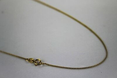 "AUTHENTIC 10K SOLID GOLD Rolo LINK CHAIN NECKLACE 0.9mm 16""~24"""