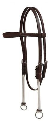 Showman Oiled Harness Leather Gag Headstall W/ Nylon Cord Cheeks! NEW HORSE TACK