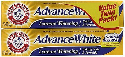 Arm and Hammer Advance White Extreme Whitening Baking Soda And Peroxide 6 Twin