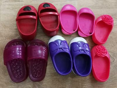 """Battat Our Generation 18"""" Doll Does PVC Shoes 5 Pairs BIN"""