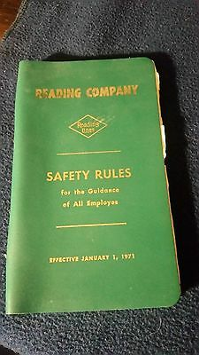 1971 Reading Railroad Safety Rule Book   *38
