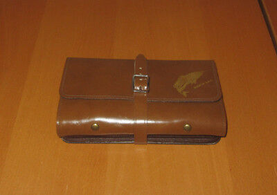 UNUSED Vintage Leather Fly Book Fishing Wallet Common Sense Fisherman Organizer