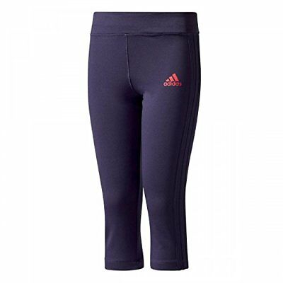 Adidas YG Gu 3/4 tight collant, filles M Multicolore - (tinnob / rosene)