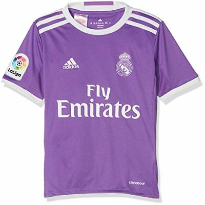 adidas Real Madrid Replica Extérieur Maillot Garçon, Ray Purple/Crystal White,