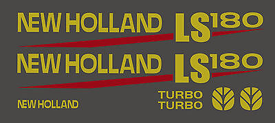 New Holland LS180 Skid Steer DECAL KIT for your loader, LS 180  FREE SHIPPING