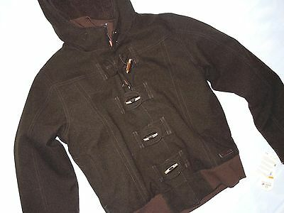 MERRELL womens Havenette  toggle button Brown winter Jacket SMALL