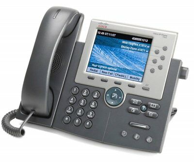 Cisco 7965 Series Unified 6-Line IP VOIP TelePhone - 7965G