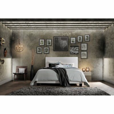 ACME Furniture Lien Queen Bed - Padded Headboard, Low Profile Footboard - White