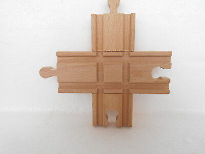 "Thomas & Friends Wooden Compatible ""rail Crossover Intersection"" New"