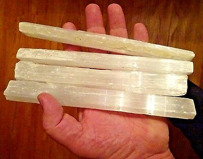 "5 Lbs 7-8"" Selenite Wands Sticks Log Bulk Wholesale Crystal 5 Pound Lot"