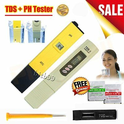 Digital PH Meter TDS Tester Aquarium Pool SPA Hydroponic Water Monitor CU
