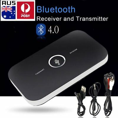 HIFI Wireless Bluetooth Audio Transmitter and Receiver 3.5MM RCA 2 in1 Adapter S