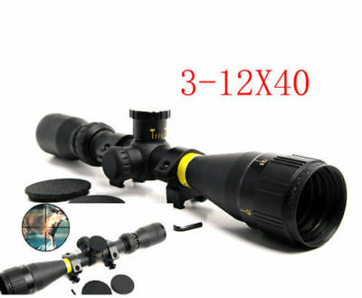 3-12x40 AO HD Rifle Scope Duplex Crosshair 17HMR / 17GR Mil-Dot W/Mount