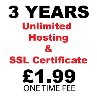 3 Years Unlimited Hosting | Host Unlimited Domains | Free ssl Certificates | UK