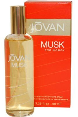 Jovan Musk for Women Cologne Concentrate Spray 96ml -Box Imperfect-