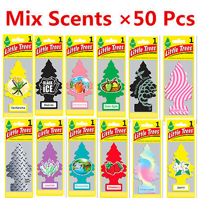 Mixed Scents Wholesale! 50 Pcs of Little Trees Hanging Car & Home Air Freshener