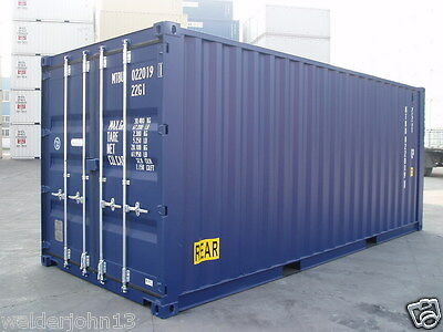 Shipping Container 20 Ft Dbl- Endrs One Trip-Ral5013 Blue Southampton Depot 2015