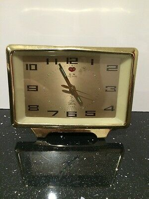 Vintage 1950 -70's FIVE RAMS Chinese Wind Up Metal Alarm Clock  Bargain, Retro