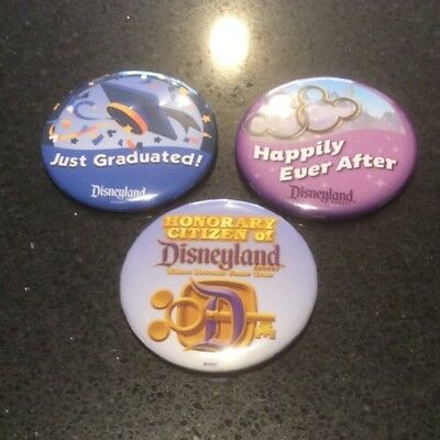 Disneyland Badges / Honorary Citizen Happily Ever After Just Graduated / Buttons