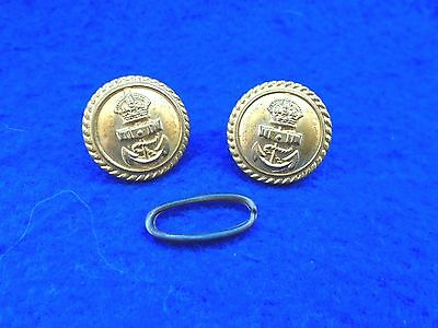 A Pair Of Wwi/ii Royal Navy Gilt 19Mm Buttons, Stokes & Sons