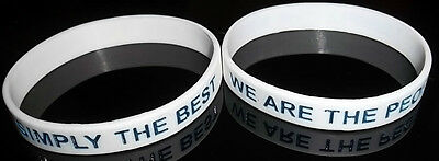 Rangers Fc White Wrist Band Watp Simply The Best