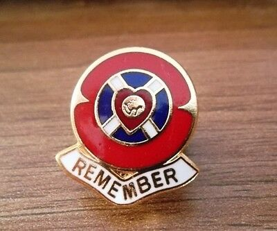 Hearts Fc Remember Poppy Badge