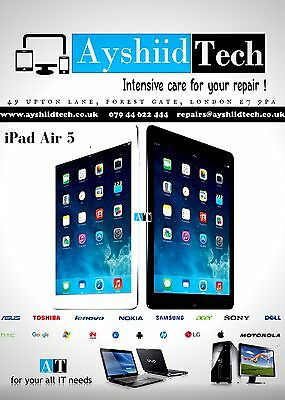 FAST  iPad Air CRACKED GLASS DIGITIZER TOUCH SCREEN REPAIR REPLACEMENT SERVICE