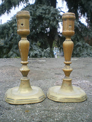 PAIR OF CANDLE HOLDERS BRONZE TIME XVII # 17 # - HIGH time