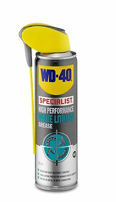 Spray WD40 High Performance White Lithium Grease 250ml Lubricant Door Hinges New