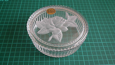 Cristal d'Arques 'Rose' Lead Crystal Box - Excellent Condition!