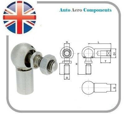 Rod End Angle Joint/Ball Joint M5,M6,M8,M10 & M12 - Zinc Plated Steel