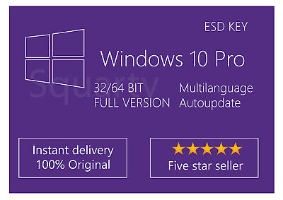 License / Licenza Microsoft Windows 10 PRO