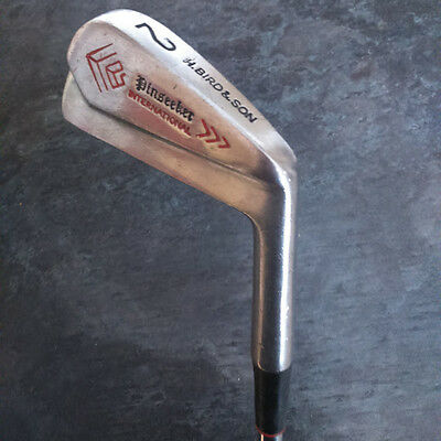 PINSEEKER International, H Bird & Son, 2 Iron, R-Flex Steel Shaft, Avon Grip.