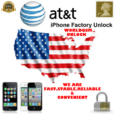 Apple iPhone USA AT&T All Models Plus SEMI PREMIUM Factory Unlock