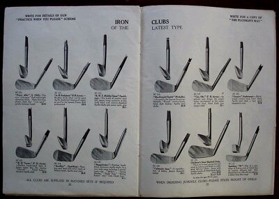Sports equipment catalogue 1933. Golf, Cricket, Tennis. Bats, clubs, balls, bags
