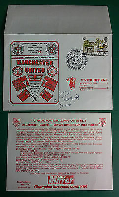 1976 MANCHESTER UNITED vs. WIDZEW LODZ SIGNED FIRST DAY COVER - SAMMY MCLROY