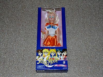 "1996 Irwin Sailor Moon 17"" Sailor Venus Adventure Doll Brand New MIB Blue Box"