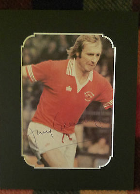 Jimmy Greenhoff - Manchester United Legend 1970S Signed Mounted Picture