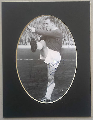 Maurice Setters - Manchester United Signed Mounted Picture 1960's -  Football