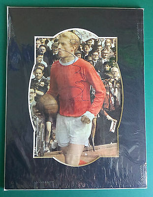 Denis Law - Manchester United & Scotland - Signed Mounted Picture 1960S & 1970S