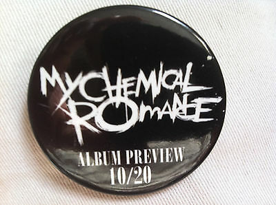 my chemical romance promo button/pin for the black parade cd