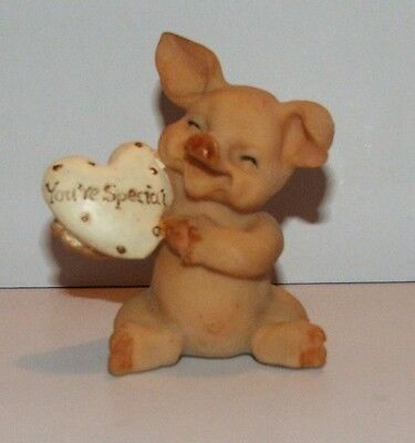 "Cute Regency Fine Arts ""You´re special"" pig ornament"