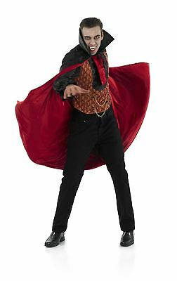 New MEDIUM Vampire Count Mens Vampire Costume Halloween Fancy Dress Up Outfits