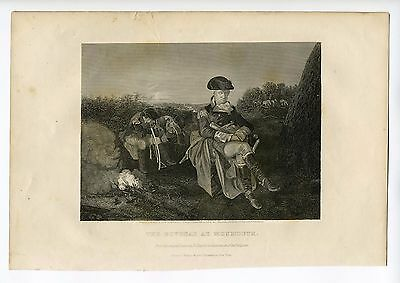 THE BIVOUAC AT MONMOUTH, Revolutionary War Battle/George Washington, Engraving