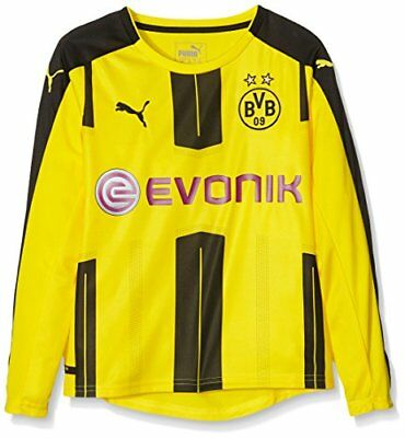 Puma longues manches BVB Home Replica Maillot pour Enfant Sponsor Logo, Cyber Ye