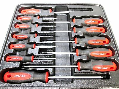 US Pro by Bergen Tools 12pc Torx Screwdriver Set T6 to T45 - Torxs 1529