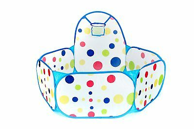 Portable Kids Indoor & Outdoor Play Tent Ball Pit Pool with Basketball Hoop BLUE