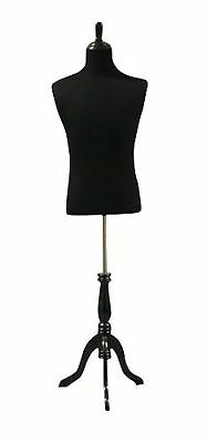 Male Mannequin Dress Form With Wooden Tripod Base Large Adjustable